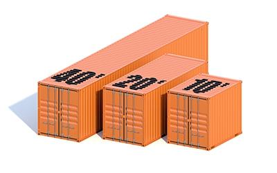 40 DC Container von Vessel